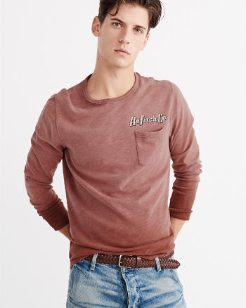 ANF Pocket Long-Sleeve Tee