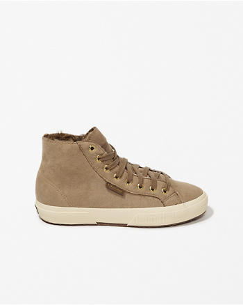 ANF Superga Faux Shearling Lined Sneakers