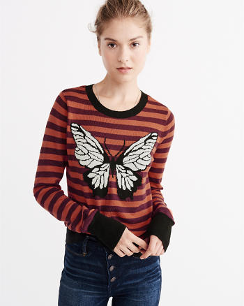 ANF Butterfly Intarsia Sweater