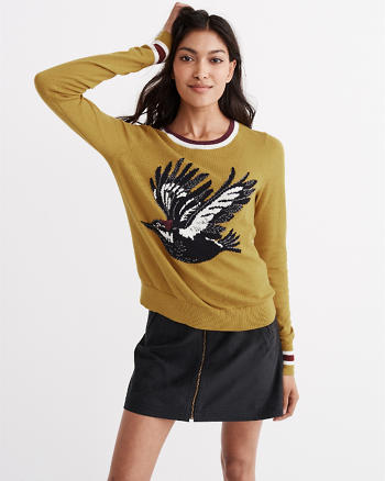 ANF Bird Intarsia Sweater