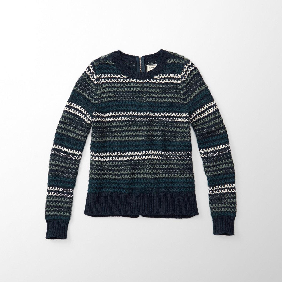 Cross Stitch Crew Sweater