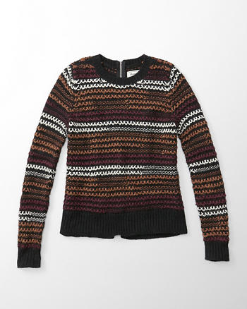 ANF Cross Stitch Crew Sweater