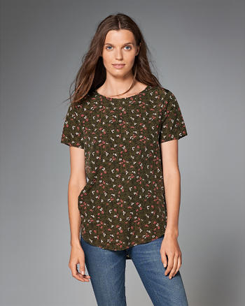 ANF Printed Short Sleeve Top