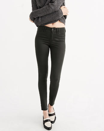 ANF Super Skinny Sateen Pants