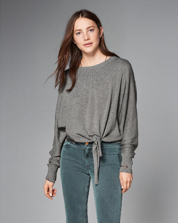 ANF Tie-Front Dolman Top