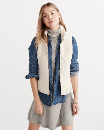ANF Fleece Quilted Vest