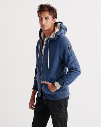 ANF Sherpa Full-Zip Hoodie