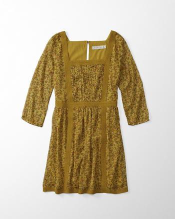 ANF Chiffon Square Neck Dress