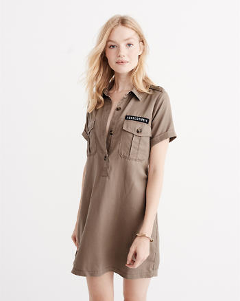 ANF Utility Shift Dress