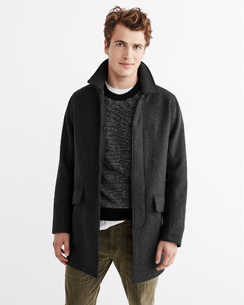 ANF Wool Mac Coat