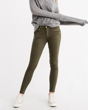 ANF Dark Olive Super Skinny Jeans
