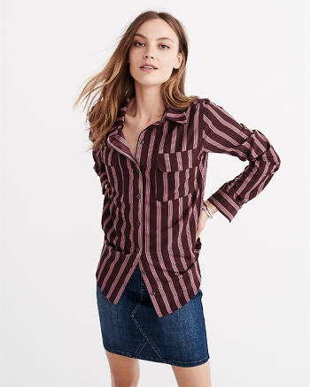 ANF Patterned Button-Up Shirt