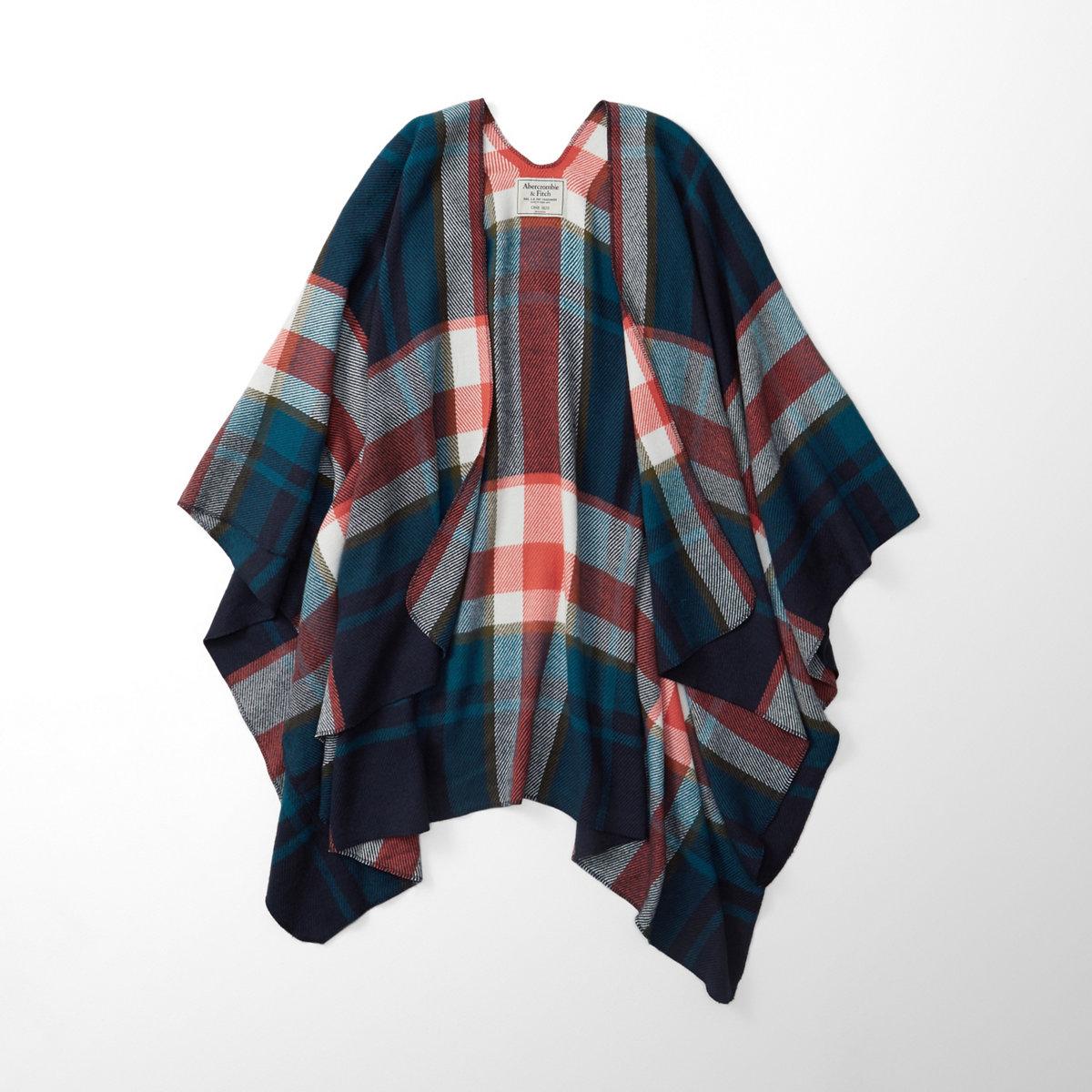 Patterned Blanket Poncho