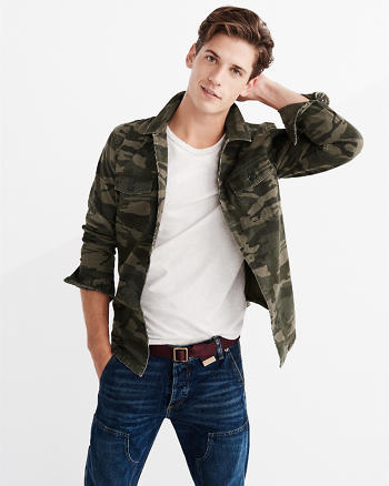 ANF Camo Military Shirt Jacket