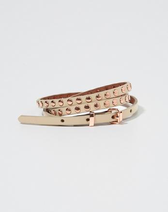 ANF Skinny Studded Belt