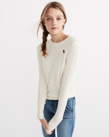 ANF Icon Cable Sweater