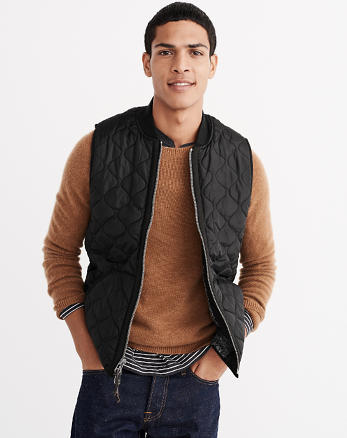 ANF Sherpa Quilted Vest