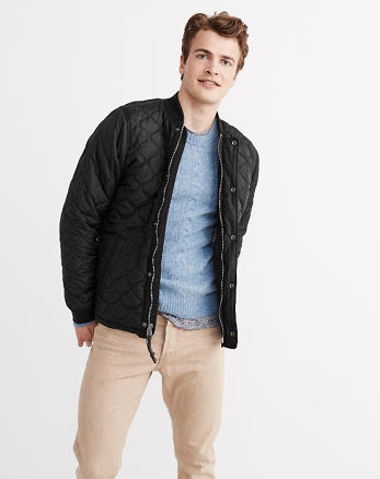 ANF Sherpa Quilted Bomber