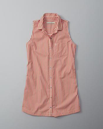 ANF Sleeveless Shirtdress