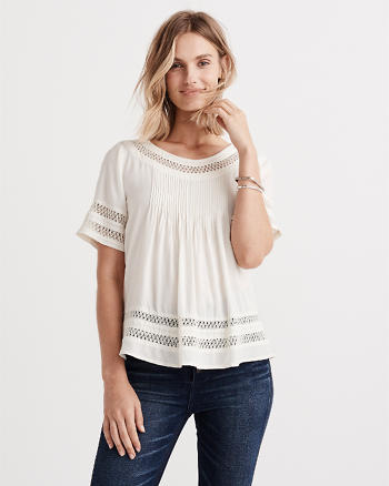 ANF Lace Pieced Tee