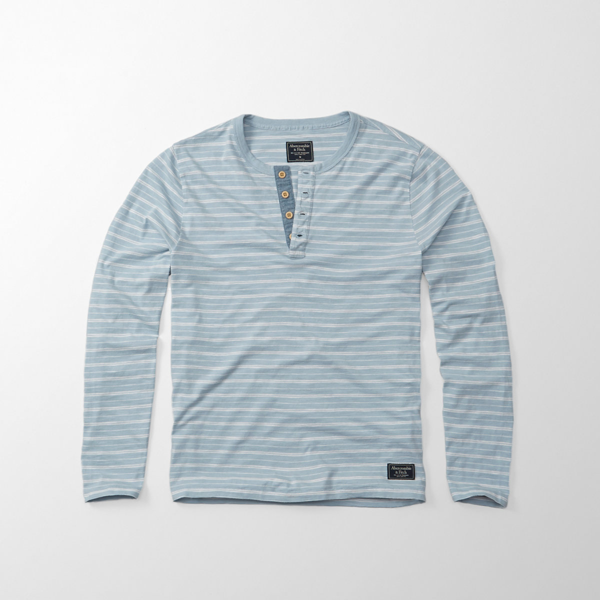 Striped Long-Sleeve Henley