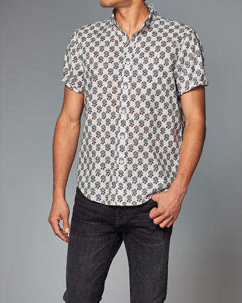 ANF Poplin Print Shirt