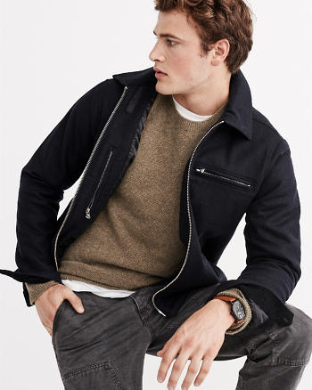 ANF Melton Wool Jacket
