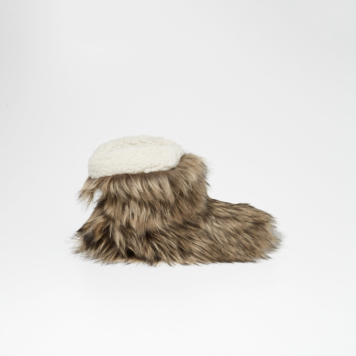 Faux Fur Boot Slippers