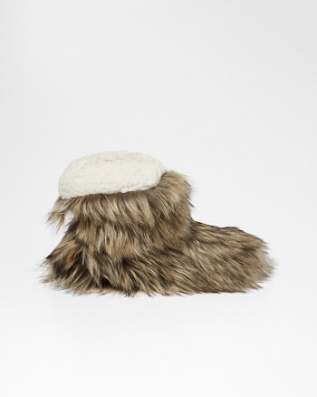 ANF Faux Fur Boot Slippers