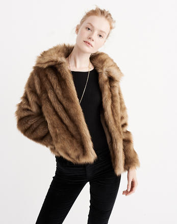 ANF Faux Fur Jacket