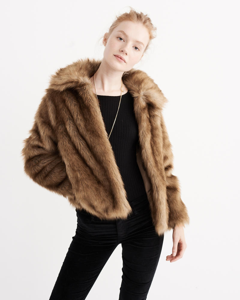 The Best in Faux Fur Accessories; Abercrombie & Fitch jacket