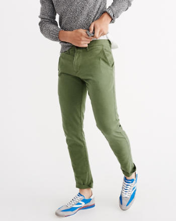 Mens Skinny Chino Pants