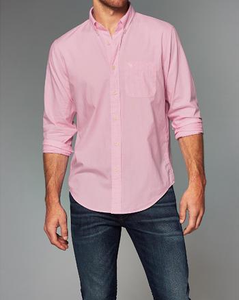 ANF Patterned Cotton Poplin Shirt