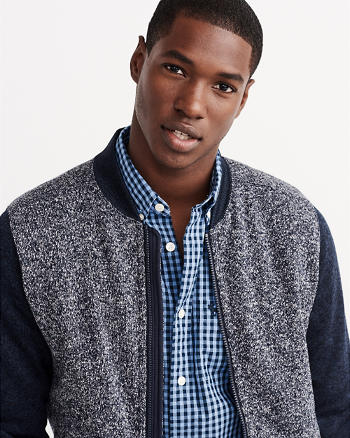 ANF Classic Fit Patterned Poplin Shirt