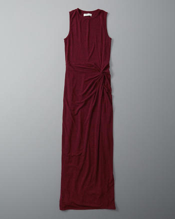 ANF Knot Front Maxi Dress