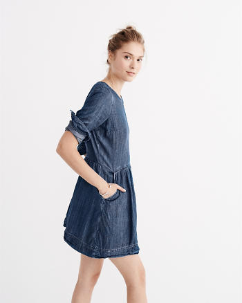 ANF A-Line Denim Dress