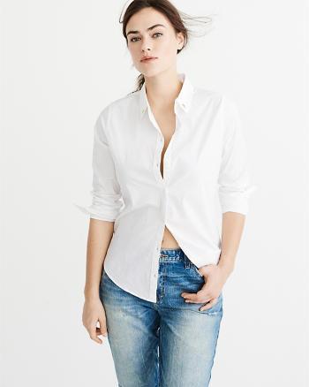 ANF Collar Studs Button-Up Shirt