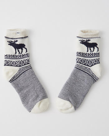 ANF Fuzzy Patterned Socks