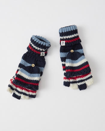 ANF Striped Knit Gloves