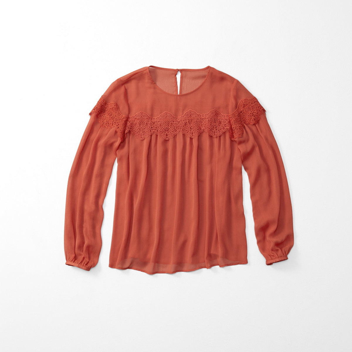 Lace Yoke Peasant Top
