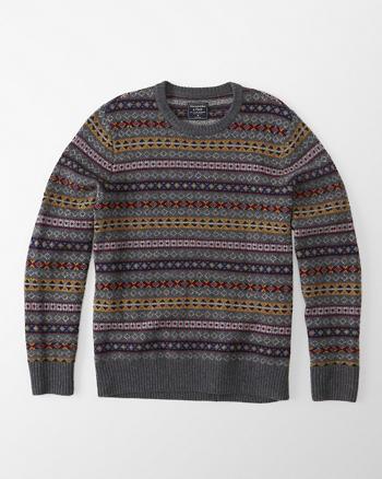 ANF Fair Isle Crew Sweater
