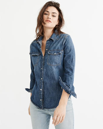 ANF Denim Button-Up Shirt