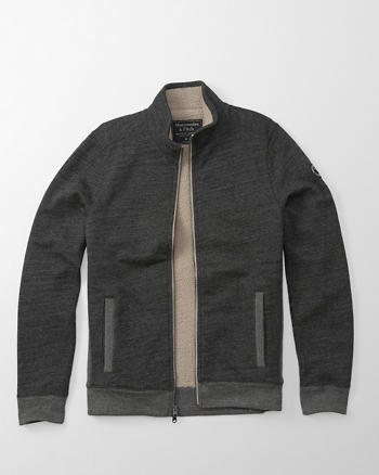 ANF Sherpa Full-Zip Mock Neck Jacket