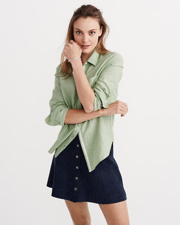 ANF Oxford Button-Up Shirt