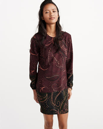 ANF Long-Sleeve Boho Dress