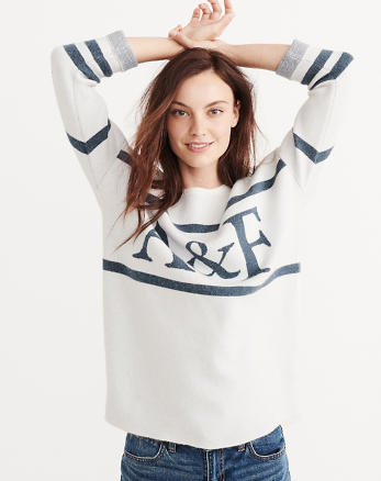 ANF Graphic Pullover Sweater