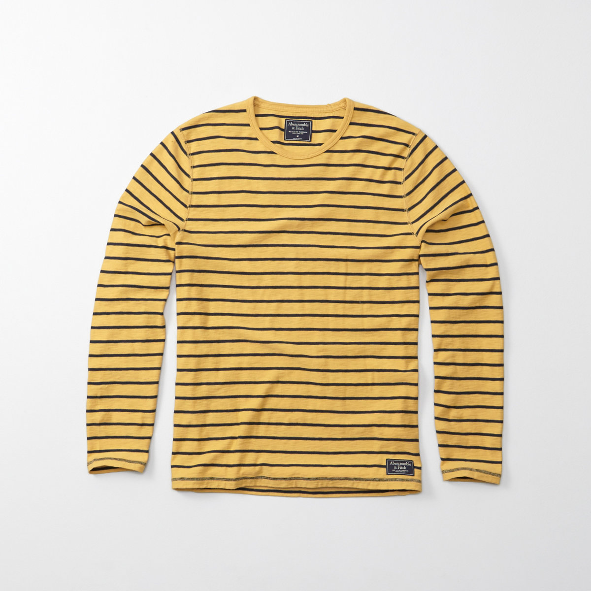 Long-Sleeve Striped Crew Tee