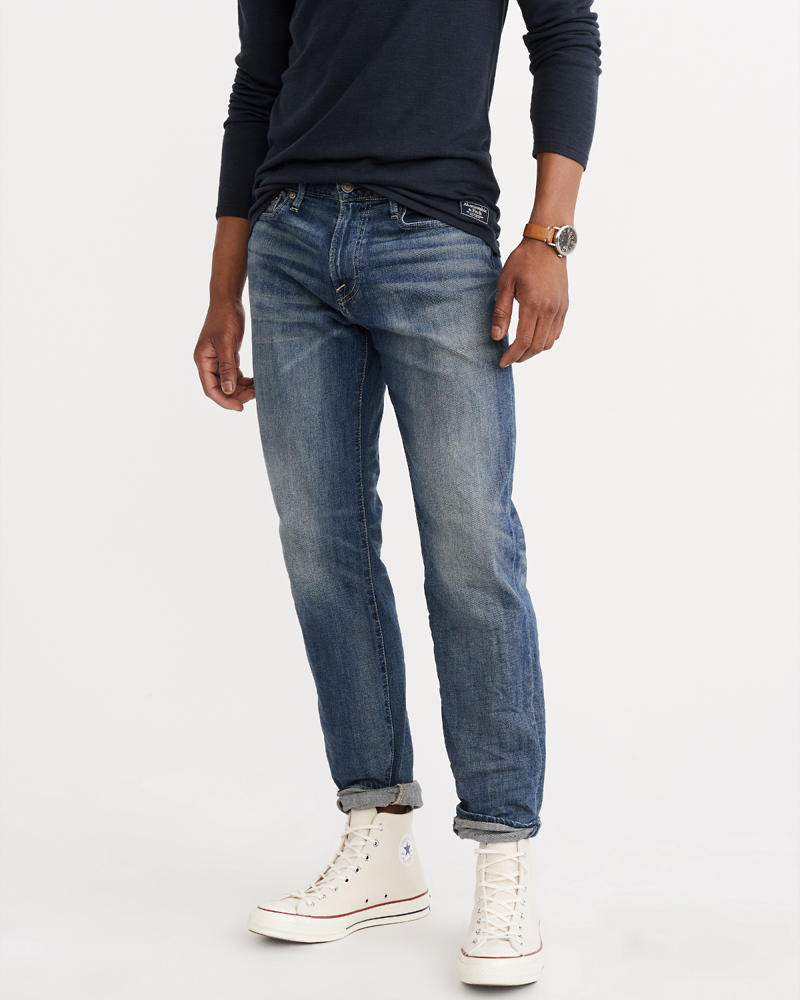 Mens Relaxed Taper Jeans | Abercrombie & Fitch
