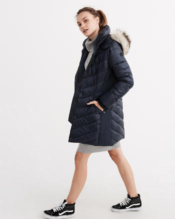 ANF Quilted Parka Puffer Jacket
