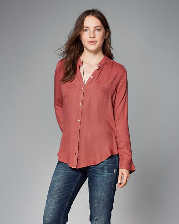 ANF Drapey Button-Up Shirt